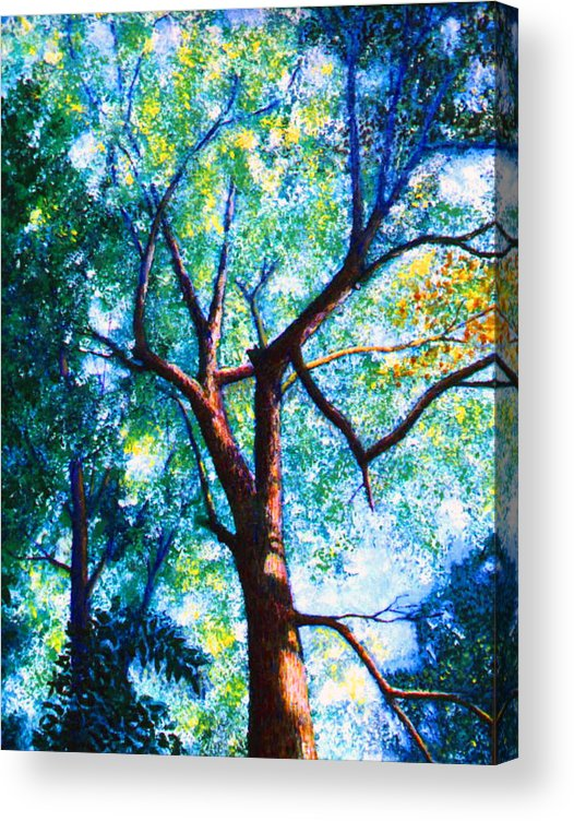 Landscape Acrylic Print featuring the painting The Tree by Stan Hamilton