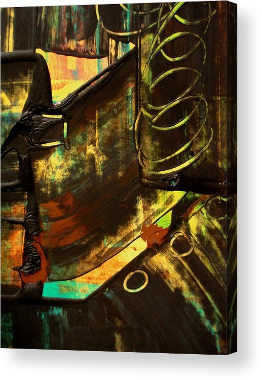 Mixed Media Print Acrylic Print featuring the painting Untitled 2 by Teo Santa
