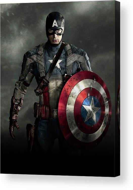 Captain America Civil War 2016 Acrylic Print By Geek N Rock