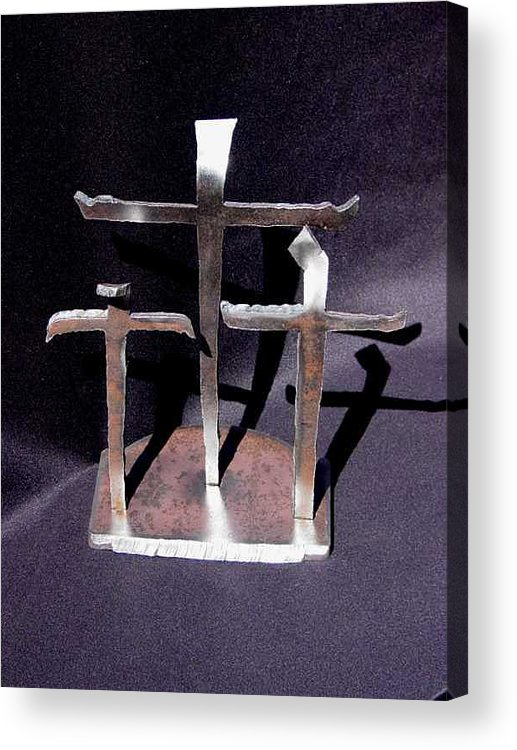 God Acrylic Print featuring the sculpture 3 Gifts Sold  by Steve Mudge
