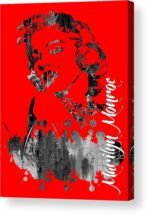 Marilyn Monroe Acrylic Print featuring the mixed media Marilyn Monroe Collection by Marvin Blaine