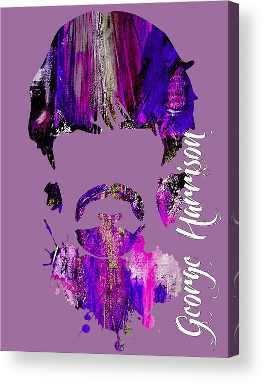 George Harrison Art Acrylic Print featuring the mixed media George Harrison Collection by Marvin Blaine