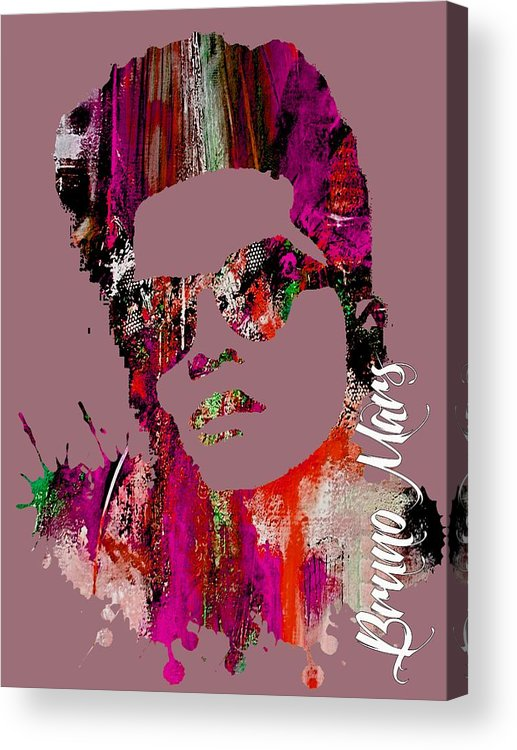 Bruno Mars Acrylic Print featuring the mixed media Bruno Mars Collection by Marvin Blaine