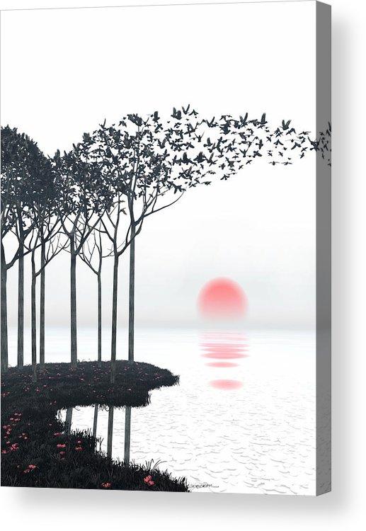 Landscape Acrylic Print featuring the digital art Aki by Cynthia Decker