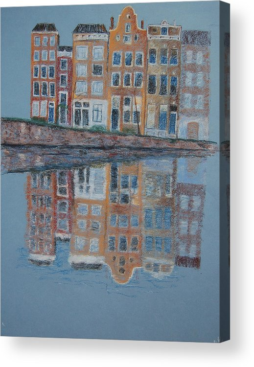 Pastel Acrylic Print featuring the painting Amsterdam by Marina Garrison