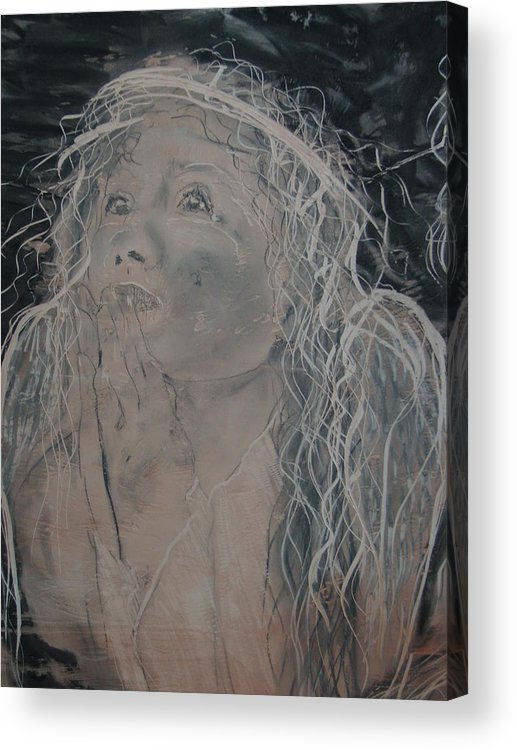 Acrylic Print featuring the painting Angel 1 by J Bauer