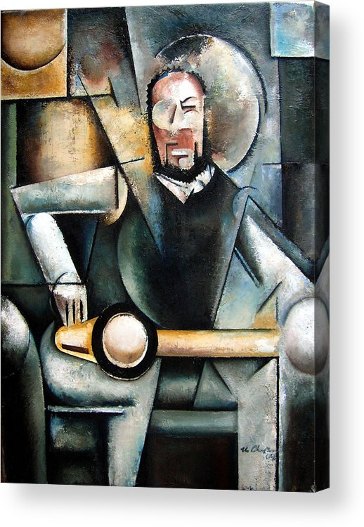 Ornette Coleman Jazz Saxophonist Cubism Acrylic Print featuring the painting Architect by Martel Chapman