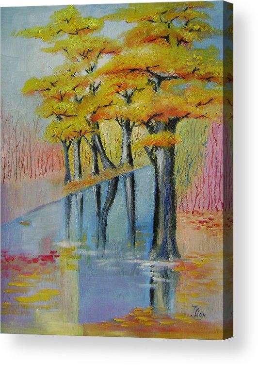 Abstract Acrylic Print featuring the painting Autumn by Lian Zhen