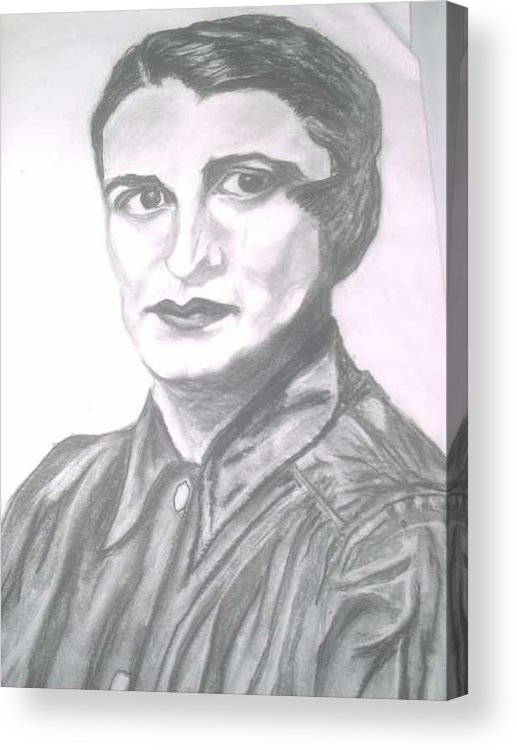 Ayn Rand Acrylic Print featuring the painting Ayn Rand by Nancy Caccioppo
