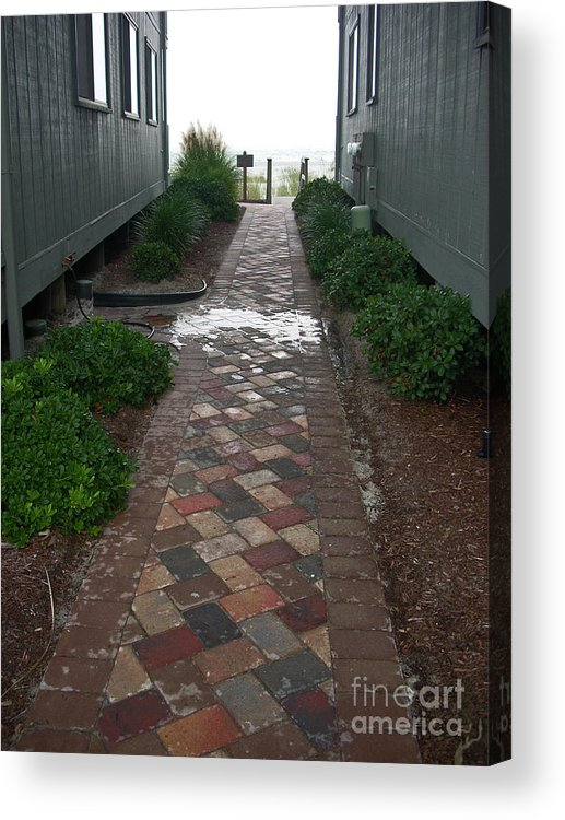 Brick Acrylic Print featuring the photograph Beach Walkway by Beebe Barksdale-Bruner