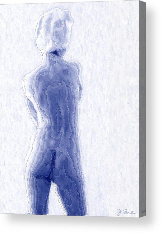 Blue Acrylic Print featuring the photograph Blue Nude by Joe Bonita