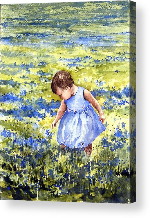 Blue Acrylic Print featuring the painting Blue by Sam Sidders