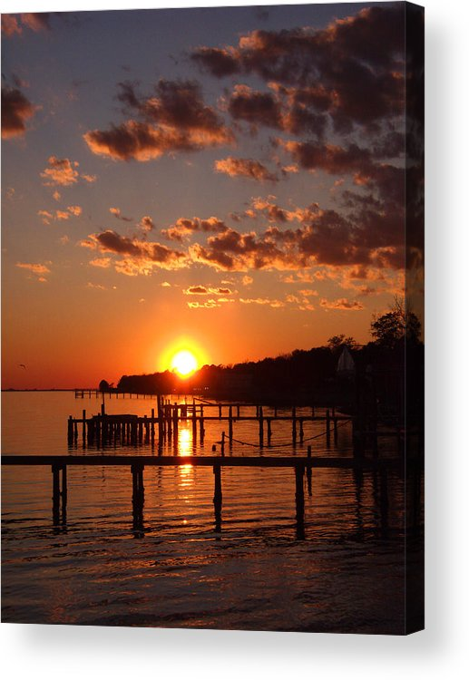 Orange Acrylic Print featuring the photograph Brilliant Orange Sunset by Nicole I Hamilton