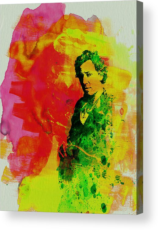 Bruce Springsteen Acrylic Print featuring the painting Bruce Springsteen by Naxart Studio