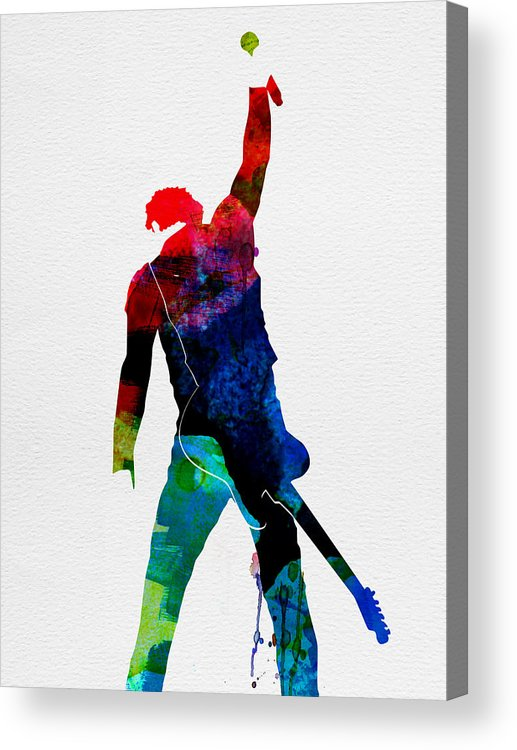 Bruce Springsteen Acrylic Print featuring the painting Bruce Watercolor by Naxart Studio