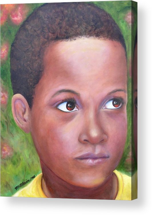 Children Acrylic Print featuring the painting Caribe Child by Merle Blair