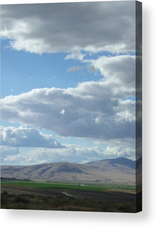 Clouds Acrylic Print featuring the photograph Cloudbreaks Over Rattlesnake by Ruth Stromswold