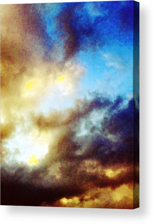 Summer Acrylic Print featuring the photograph Clouds by Flavien Gillet
