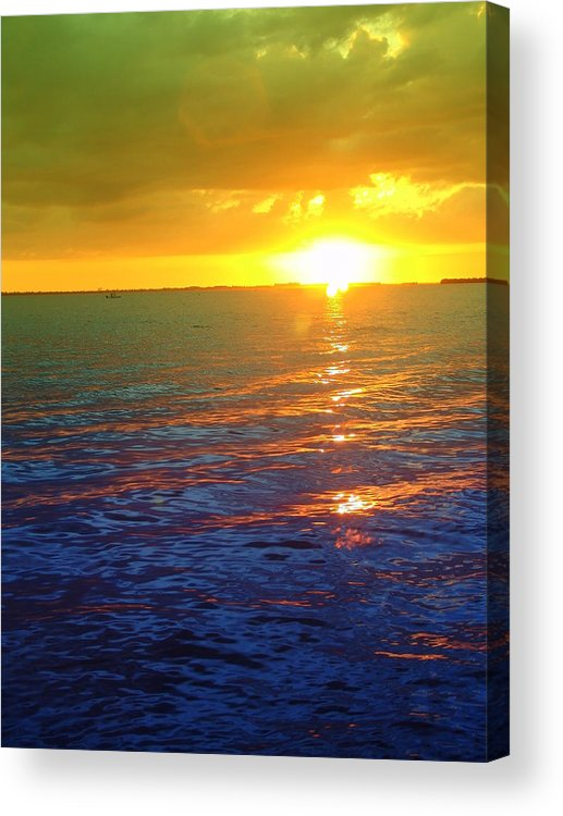 Sunset Acrylic Print featuring the photograph Color Me A Tropic Sunset by Florene Welebny