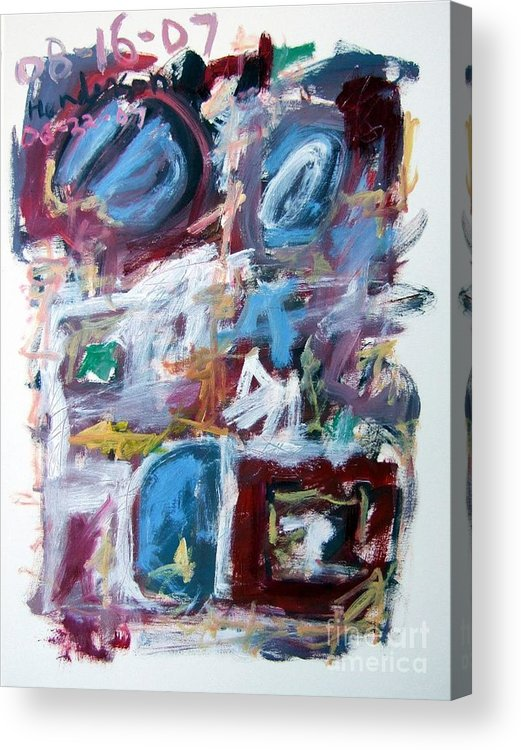 Abstract Acrylic Print featuring the painting Composition No. 10 by Michael Henderson