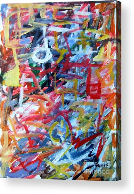Abstract Acrylic Print featuring the painting Composition No. 11 by Michael Henderson