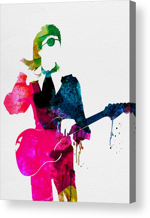 David Bowie Acrylic Print featuring the painting David Watercolor by Naxart Studio