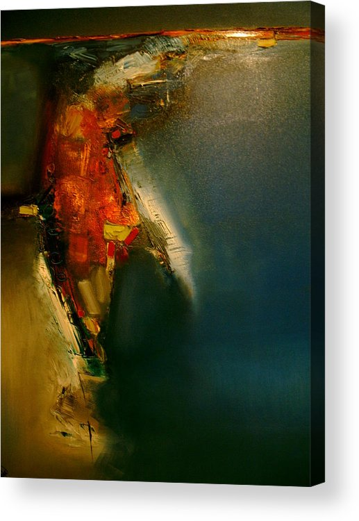 Canvas Acrylic Print featuring the painting Does The Red Rain Splash You by Stefan Fiedorowicz