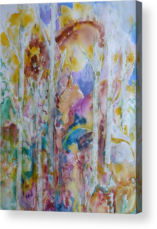 Vibrant Abstract Acrylic Print featuring the painting Earth Changes and so do I by Phoenix Simpson