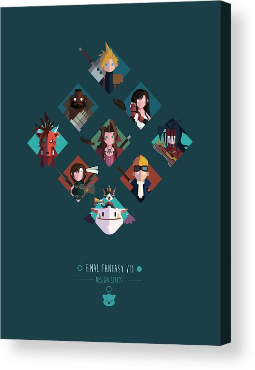 Final Fantasy Acrylic Print featuring the digital art FF Design Series by Michael Myers