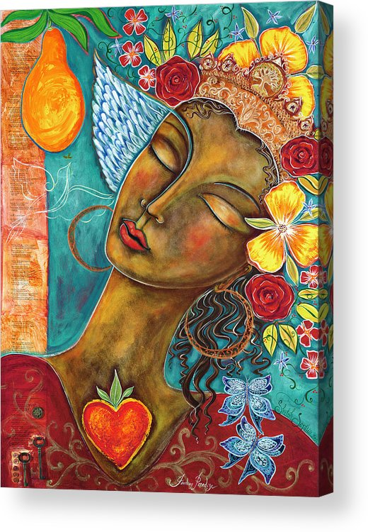 Bird Acrylic Print featuring the painting Finding Paradise by Shiloh Sophia McCloud