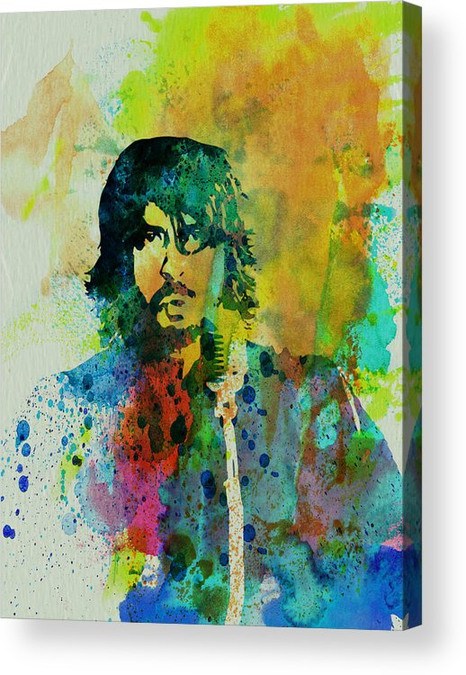 Foo Fighters Acrylic Print featuring the painting Foo Fighters by Naxart Studio