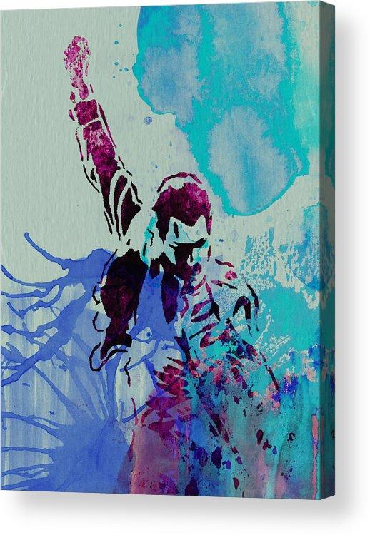 Freddie Mercury Acrylic Print featuring the painting Freddie Mercury by Naxart Studio
