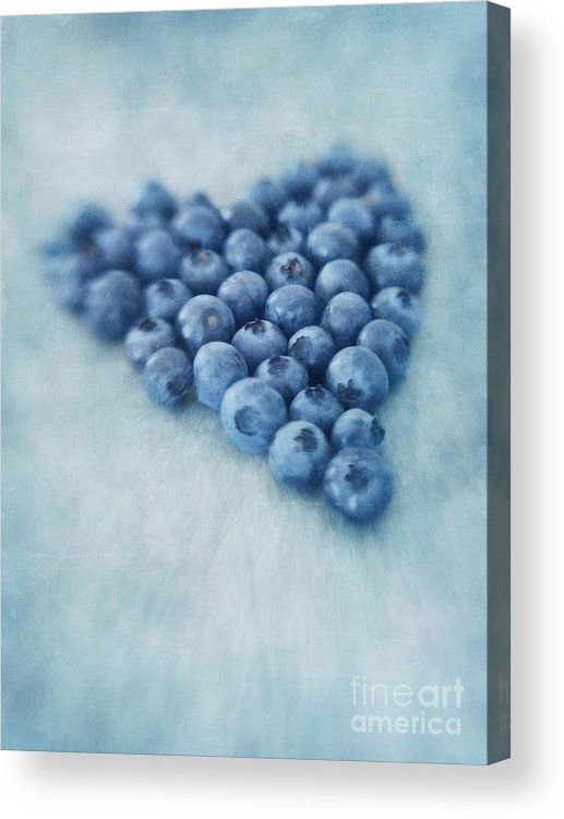 Blueberry Acrylic Print featuring the photograph I love blueberries by Priska Wettstein