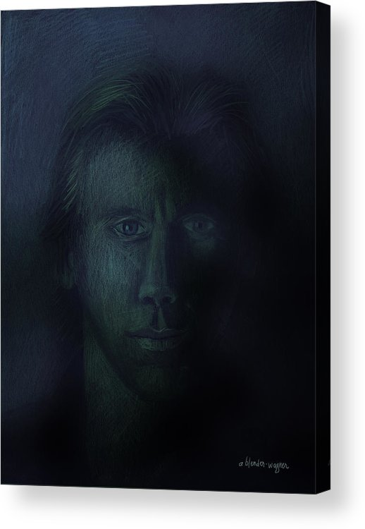 Dark Acrylic Print featuring the pastel In The Shadows Of Despair by Arline Wagner