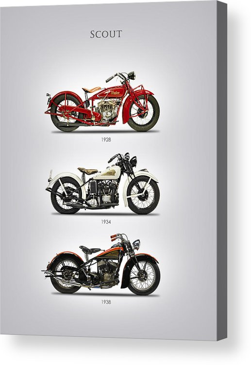 Indian Scout Acrylic Print featuring the photograph Scout Trio by Mark Rogan