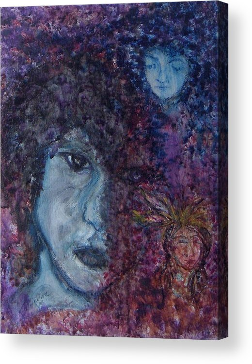 Jim Morrison Acrylic Print featuring the painting Indian Summer Dream by Cathy Minerva