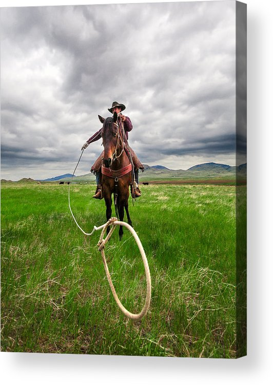 Cowboy Acrylic Print featuring the photograph Invisible Calf by Todd Klassy