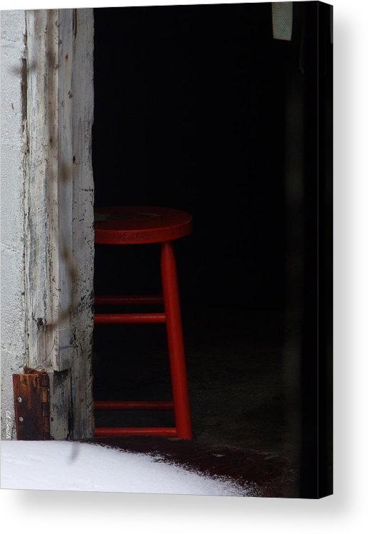 Last Man Standing. Stool Acrylic Print featuring the photograph Last Man Standing by Edward Smith