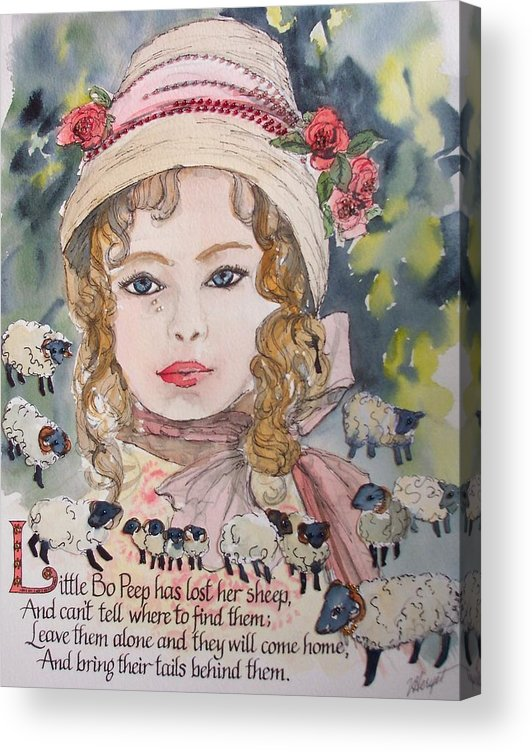 Little Bo Peep Acrylic Print featuring the painting Little Bo Peep by Victoria Heryet
