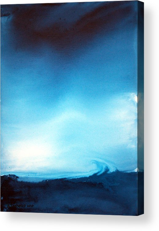 Maine Acrylic Print featuring the painting Loyalty of the Mind 11 by Laura Tasheiko