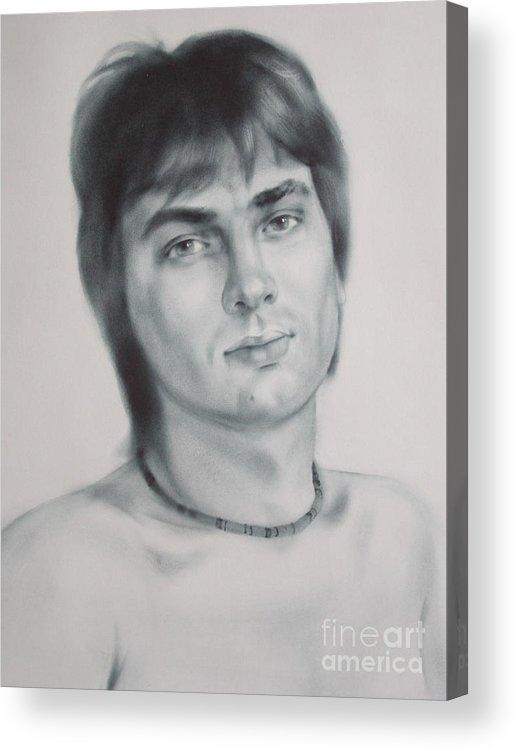 Art Acrylic Print featuring the drawing Man by Sergey Ignatenko