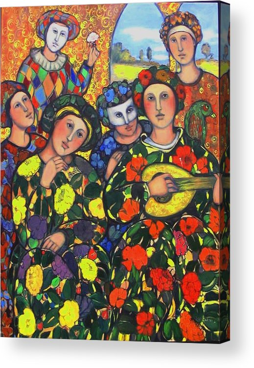 Acrylic Print featuring the painting Mardis Gras by Marilene Sawaf