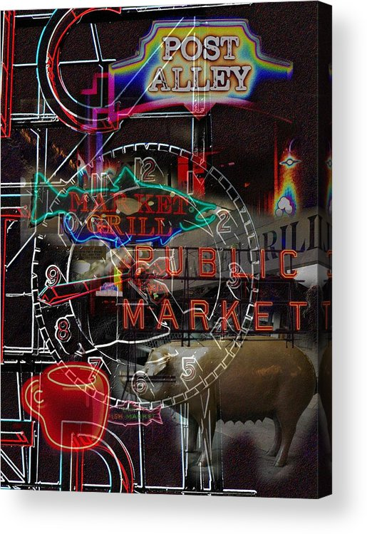 Seattle Acrylic Print featuring the photograph Market Medley by Tim Allen