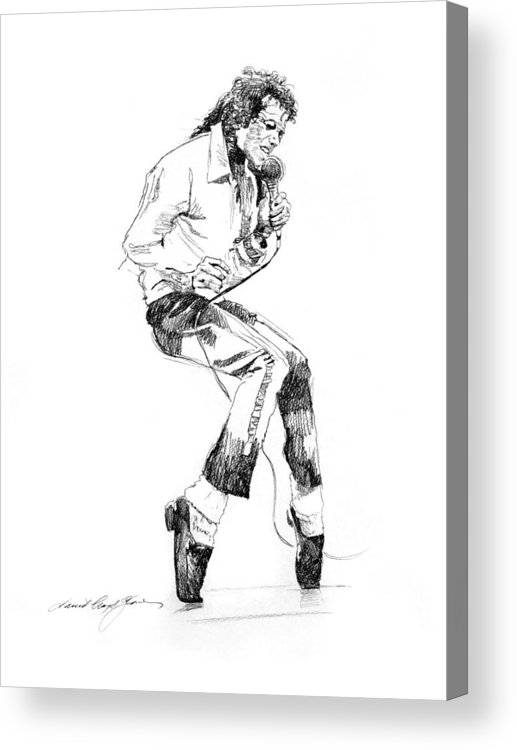Michael Jackson Acrylic Print featuring the drawing Michael Jackson - King of Pop by David Lloyd Glover