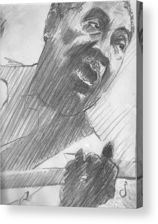 Drawing Acrylic Print featuring the drawing Mojo Man by Michael Facey
