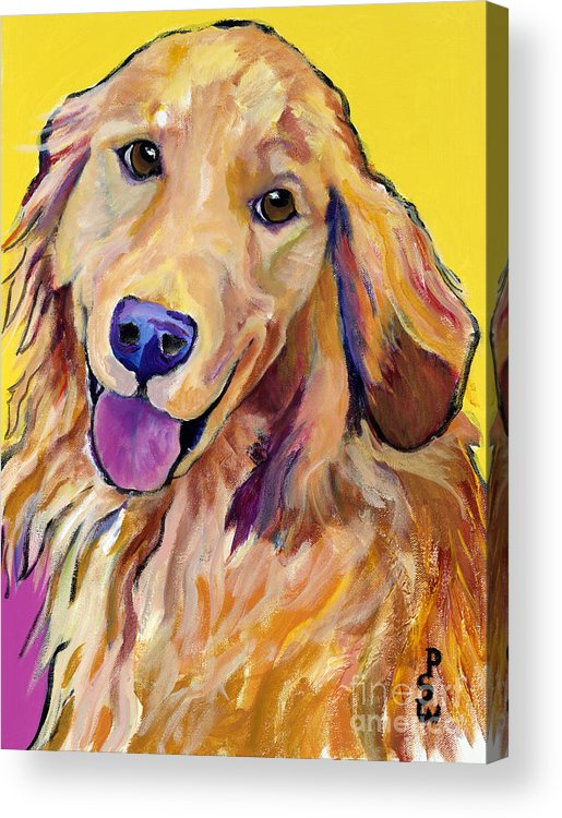 Acrylic Paintings Acrylic Print featuring the painting Molly by Pat Saunders-White