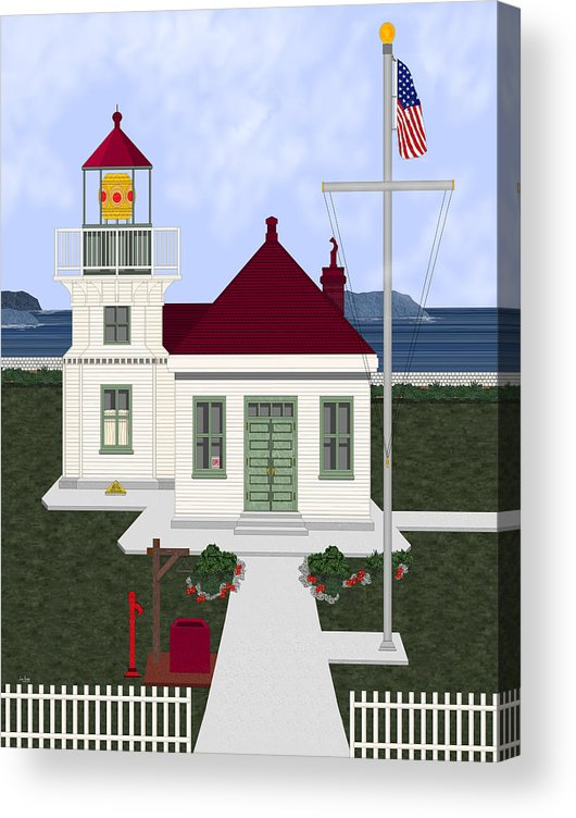 Lighthouse Acrylic Print featuring the painting Mukilteo Light by Anne Norskog