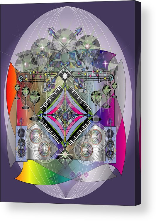 Giclee Acrylic Print featuring the digital art Music Fabrege by George Pasini