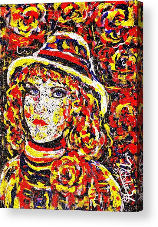 Woman Acrylic Print featuring the painting Nat With The Hat by Natalie Holland