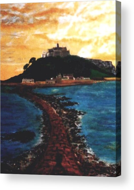 Beaches Acrylic Print featuring the painting Near Penzance St. Michaels Mount by Richard Hubal